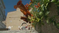 The Church of S. Mario d'Aracoeli, Rome (Slomo dolly 2) Stock Footage