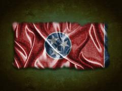 vintage tennessee flag. - stock illustration