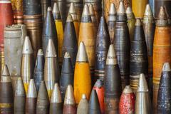 Rivi antiikki maailmansodan kaksi pommia Kuvituskuvat