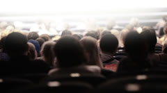 Spectators at theatrical performance. Time lapse. Stock Footage