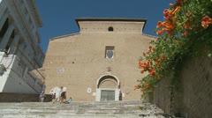 The Church of S. Mario d'Aracoeli, Rome (Slomo dolly 5) Stock Footage