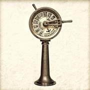 Retro styled image of a nineteenth century engine room telegraph Stock Photos