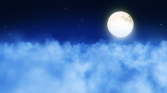 Full moon above the clouds Stock Footage