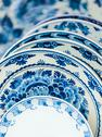 Ancient dutch dishware from delft Stock Photos