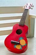 Punainen ukulele kitara Kuvituskuvat
