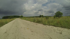 Road before the storm Stock Footage