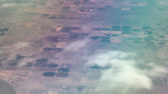 Flying over crops  Stock Footage