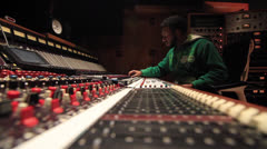 Black Engineer Mixing in Recording Studio - Ew 02 Stock Footage