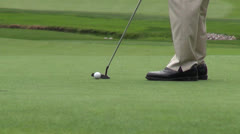 PGA Pro Golfer Putting, Golf Stock Footage