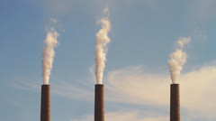 Smoke Stacks - stock footage