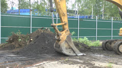 Excavator Stock Footage