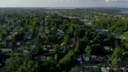 Stock Video Footage of Aerial view of residential homes and suburbs, Seattle