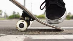 Skateboarder Ollie In Super Slow Motion Stock Footage