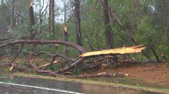 Tornado damage Stock Footage