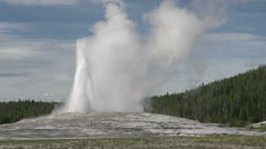 Old Faithful erupting close up Stock Footage