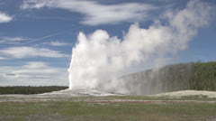 Old Faithful Geyser as it erupts Stock Footage