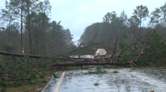 Tornado misses car Stock Footage