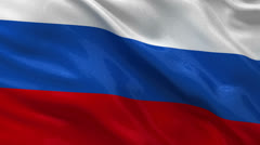 Seamless loop of the Russian flag Stock Footage