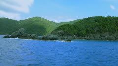US Virgin Islands shoreline - stock footage