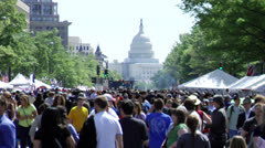 Washington D.C. Capitol Building during Festival - stock footage