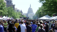 Stock Video Footage of Washington D.C. Capitol Building during Festival