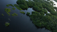 Flying Over Beautiful Everglades Stock Footage