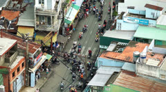 TRAFFIC IN VIETNAM - HO CHI MINH CITY - stock footage