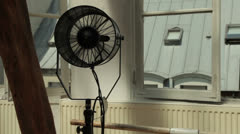 Professional cooling fan dollying in and out Stock Footage