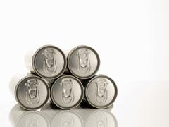 Aluminium Beverage Cans - stock photo