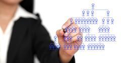 business organization chart - stock photo