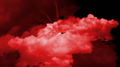 Red cloud in space. Stock Footage