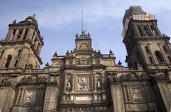 Metropolitan cathedral zocalo mexico city Stock Photos