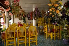Stock Photo of colorful mexican restaurant janitzio island mexico
