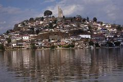 Janitzio island patzcuaro lake mexico Stock Photos