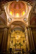 Guadalupita church interior altar dome morelia mexico Stock Photos
