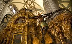 Inside of metropolitan cathedral, zocalo, cneter, mexico city Stock Photos