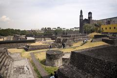 Aztec archaelogical site mexico city Stock Photos