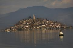 Stock Photo of janitzio island in patzcuaro lake mexico