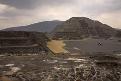 Stock Photo of moon pyramid teotihuacan mexico