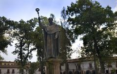bishop papa vasco statue patzcuaro mexico - stock photo
