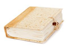 diary or photo album book isolated on white background - stock photo