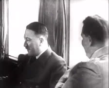 Hitler - In Train with Göring 01 - stock footage
