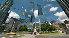 Time Warner Center in NYC Stock Footage