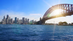 Harbour Bridge Sydney Stock Footage