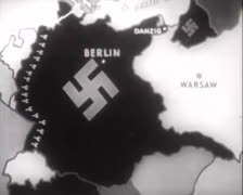 Map - Attack on Warsaw 01 Stock Footage