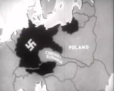 Map - Isolation Poland 01 Stock Footage