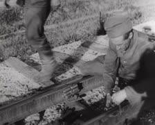 Rails detonation Stock Footage