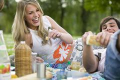 Stock Photo of teenagers having picnic