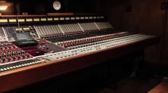 Pan of Recording Studio - Ew 09 Stock Footage