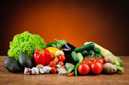 Stock Photo of various fresh vegetables